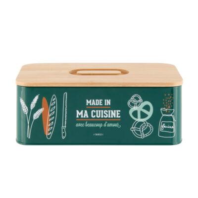 """Boîte à pain avec couvercle en bambou - Gamme """"Made in ma cuisine"""" - Derrière la porte"""