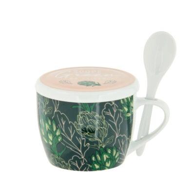 Bol à soupe avec couvercle - Modèle PERMAN - Soupe green de saison - Derrière la porte