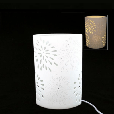 Lampe porcelaine Ovale - Faye Import