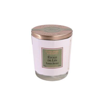 Bougie parfumée 180gr, senteur Etole de lin, de Collines de Provence - Gamme Couture