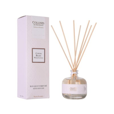 Bouquet parfumé 100ml, senteur Coton blanc, de Collines de Provence - Gamme Couture