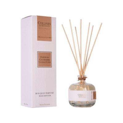 Bouquet parfumé 100ml, senteur Fleur de cachemire, de Collines de Provence - Gamme Couture