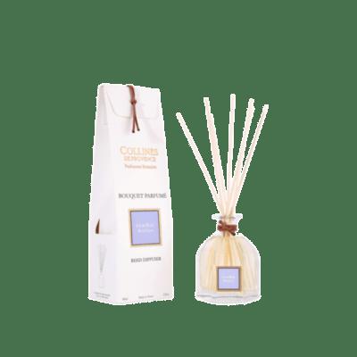 Bouquet parfumé 100ml, senteur Lilas bleu, de Collines de Provence - Gamme Les naturelles